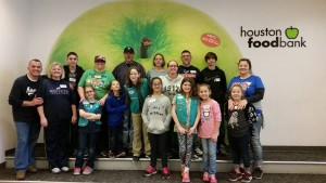 Troop 114002 at food bank 2