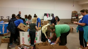 Troop 114002 at food bank